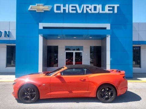 Crush (Orange) 2019 Chevrolet Camaro SS Convertible