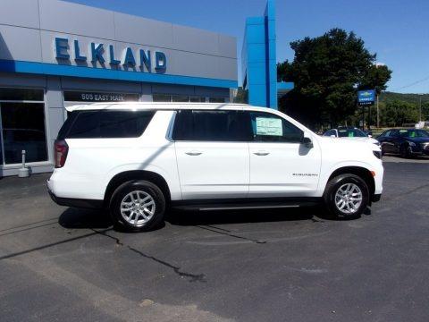 Summit White 2021 Chevrolet Suburban LS 4WD