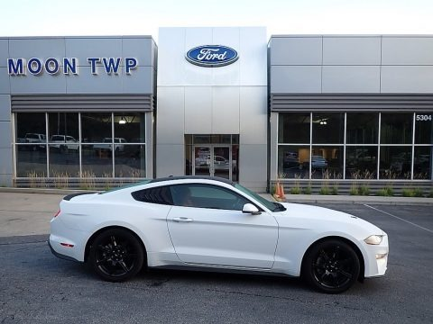 Oxford White 2019 Ford Mustang EcoBoost Premium Fastback