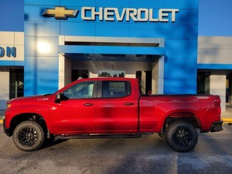 Cherry Red Tintcoat 2021 Chevrolet Silverado 1500 Custom Trail Boss Crew Cab 4x4