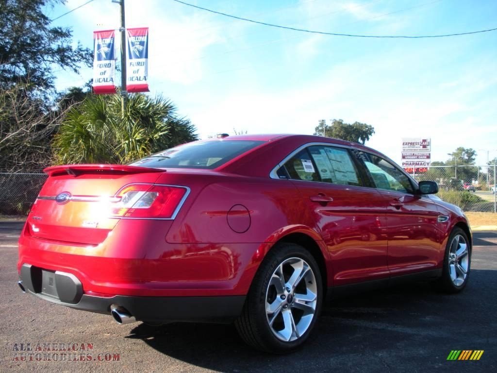 2010 ford taurus sho awd in red candy metallic photo 3 117410 all american automobiles. Black Bedroom Furniture Sets. Home Design Ideas