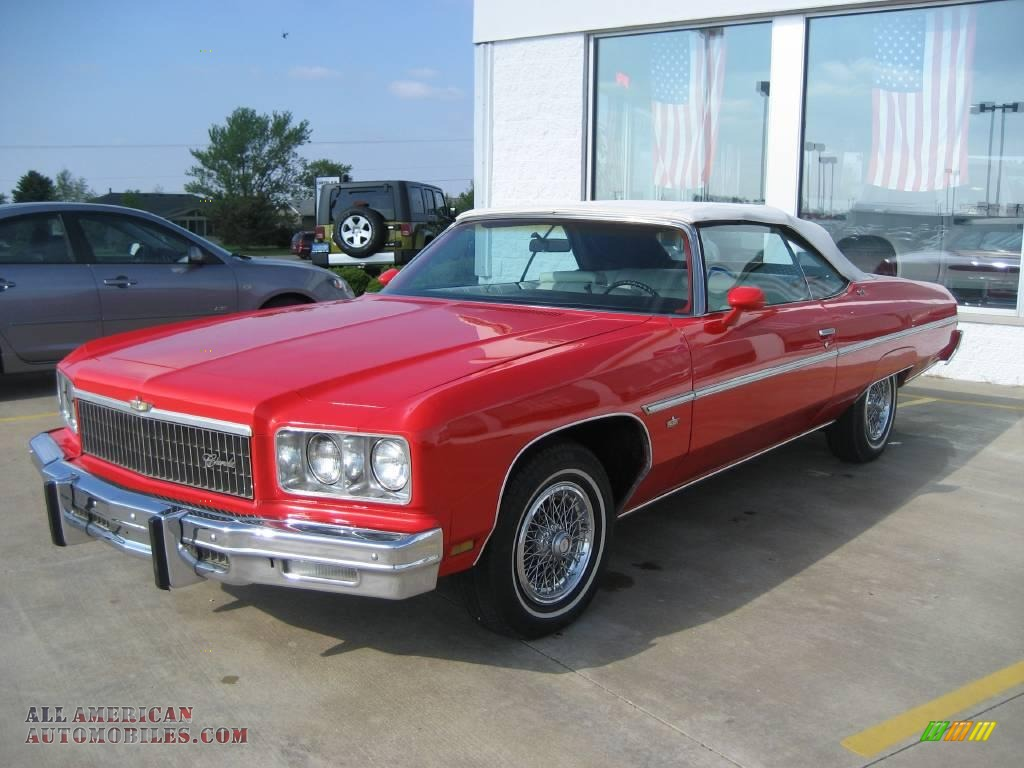 1975 chevrolet caprice classic convertible in red photo 6 153241 all american automobiles. Black Bedroom Furniture Sets. Home Design Ideas