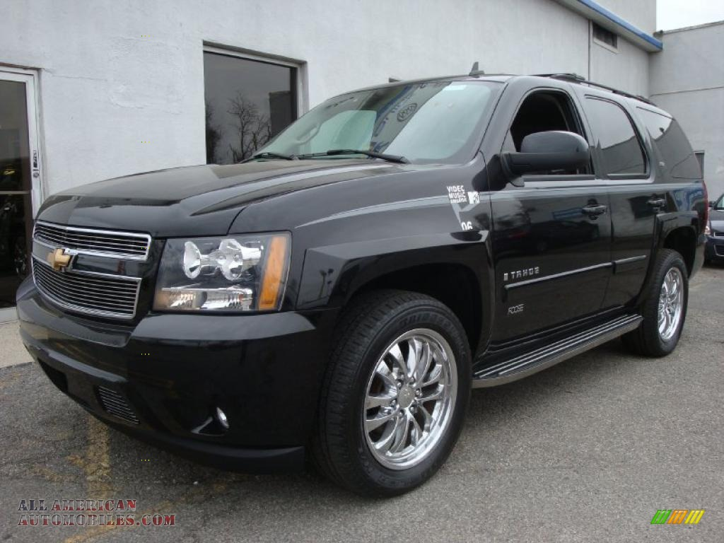 2007 chevrolet tahoe z71 4x4 in black 204974 all american automobiles buy american cars. Black Bedroom Furniture Sets. Home Design Ideas
