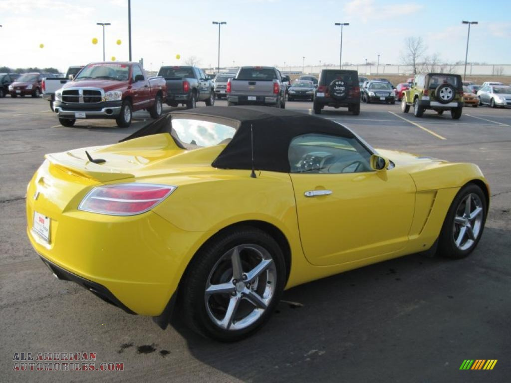 2007 saturn sky roadster in sunburst yellow photo 8 100602 all american automobiles buy. Black Bedroom Furniture Sets. Home Design Ideas