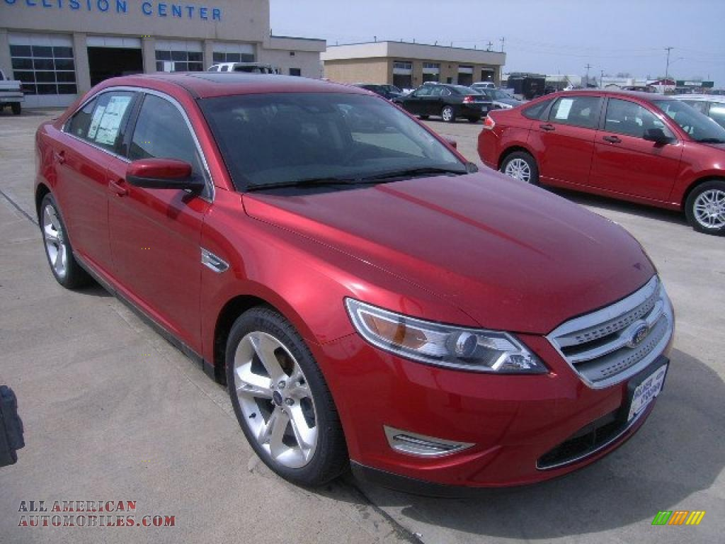 2010 ford taurus sho awd in red candy metallic 119851 all american automobiles buy. Black Bedroom Furniture Sets. Home Design Ideas