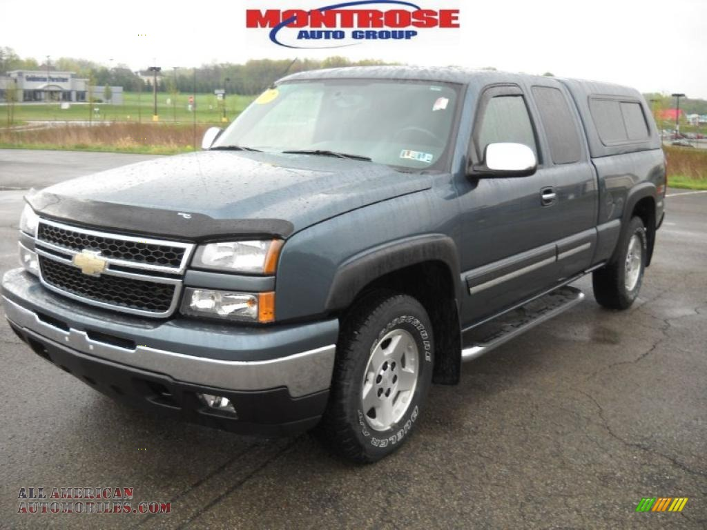 2007 chevrolet silverado 1500 classic z71 extended cab 4x4 in blue granite metallic photo 21. Black Bedroom Furniture Sets. Home Design Ideas