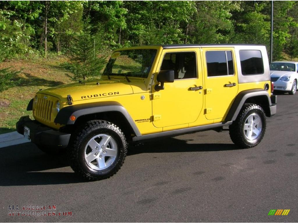 yellow jeep wrangler unlimited rubicon for sale. Black Bedroom Furniture Sets. Home Design Ideas