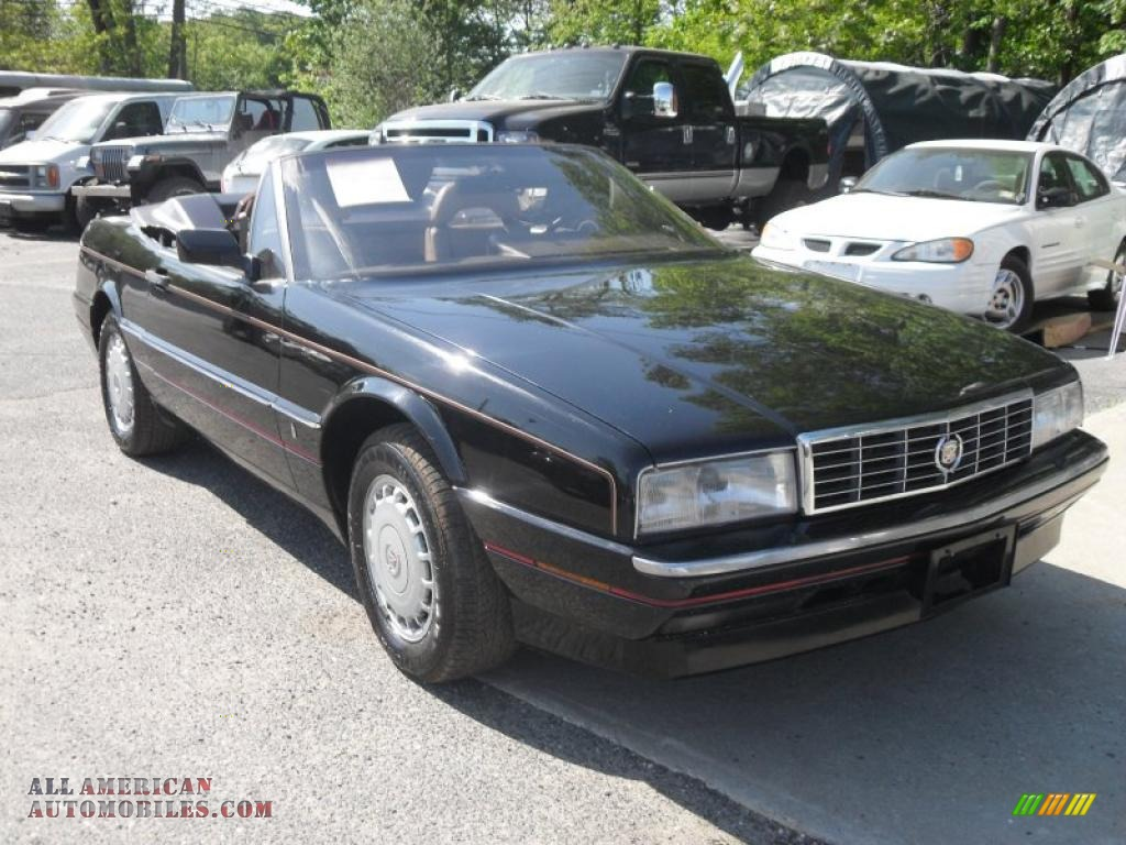 1988 cadillac allante convertible in black 101524 all american. Cars Review. Best American Auto & Cars Review