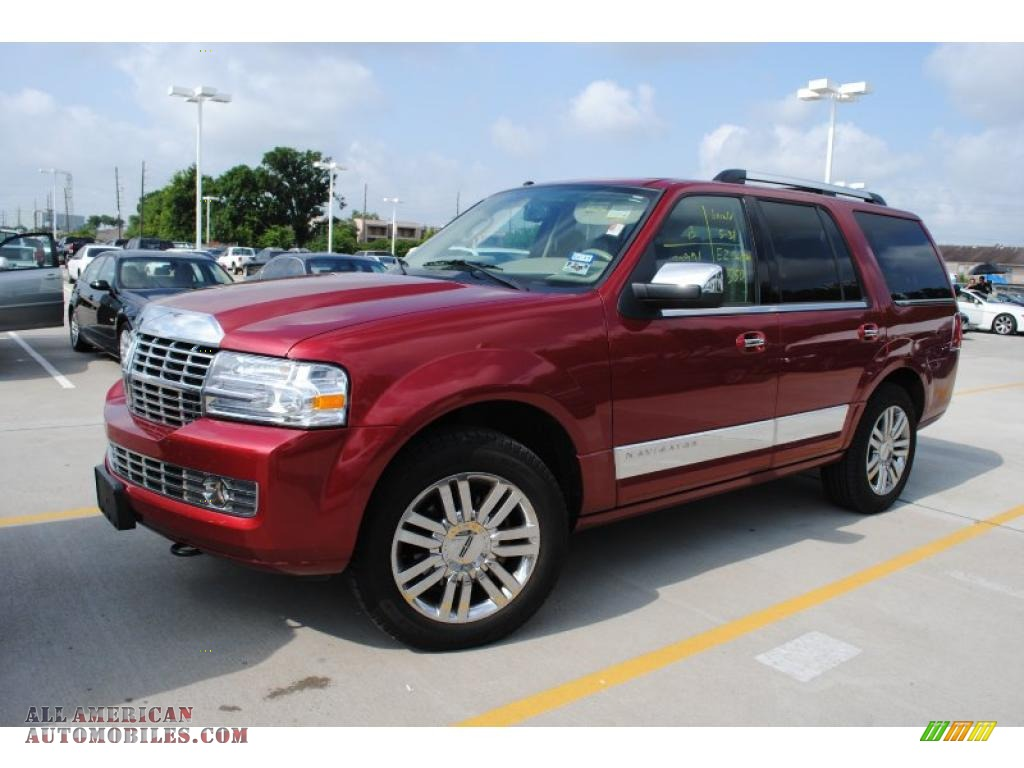 2008 Lincoln Navigator Luxury In Vivid Red Metallic Photo