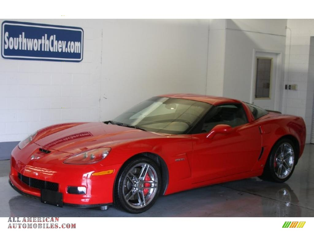 2008 chevrolet corvette z06 in victory red 124961 all. Black Bedroom Furniture Sets. Home Design Ideas