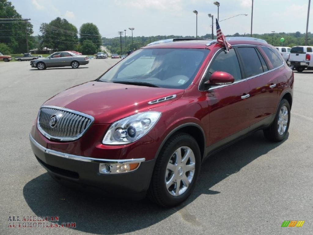2010 Buick Enclave Cxl In Red Jewel Tintcoat 252487