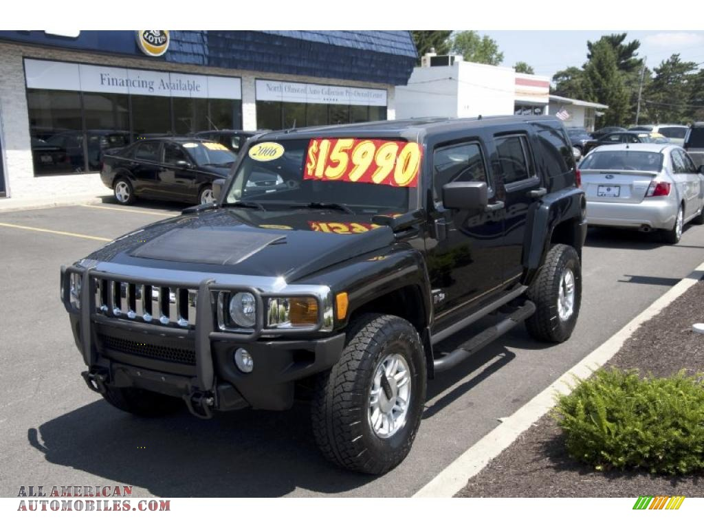 2006 hummer h3 in black 137751 all american automobiles buy american cars for sale in america. Black Bedroom Furniture Sets. Home Design Ideas