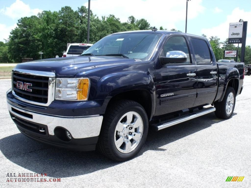 2010 gmc sierra 1500 sle crew cab in midnight blue metallic photo 4 265132 all american. Black Bedroom Furniture Sets. Home Design Ideas