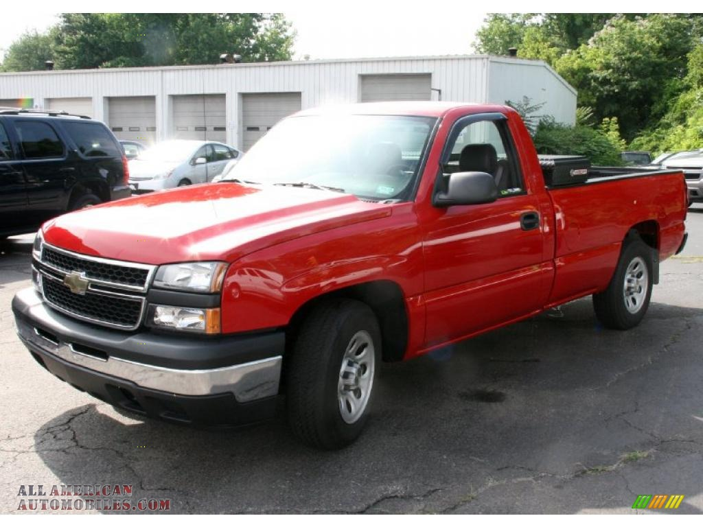 2007 chevrolet silverado 1500 classic work truck regular cab in victory red photo 5 165594. Black Bedroom Furniture Sets. Home Design Ideas