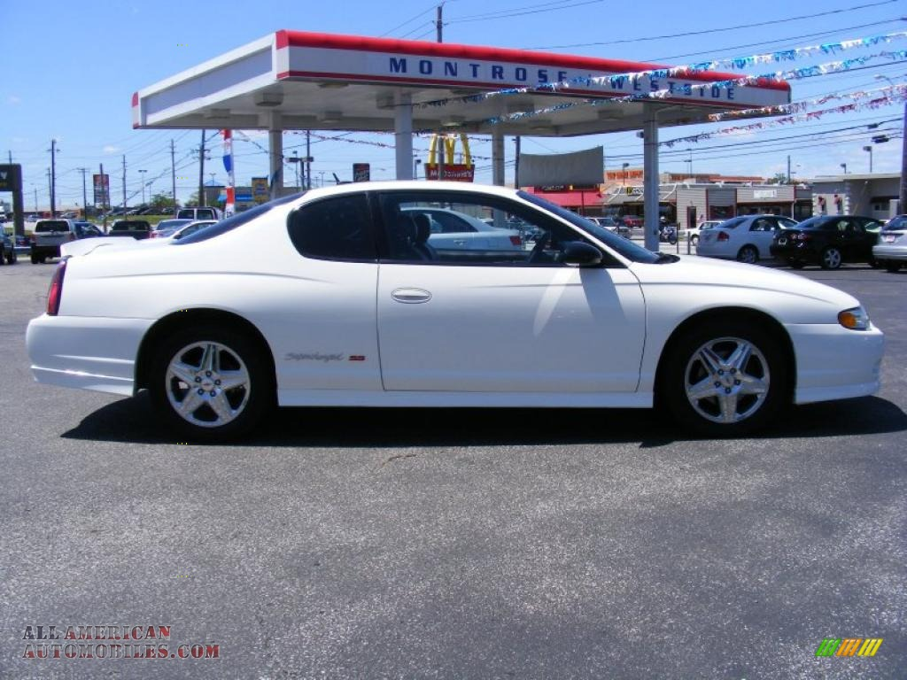 2005 chevrolet monte carlo supercharged ss in white photo 6 143766 all american automobiles. Black Bedroom Furniture Sets. Home Design Ideas