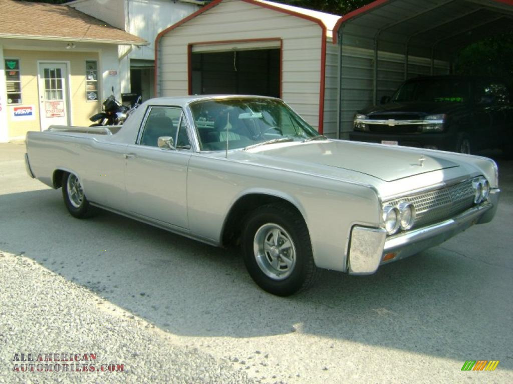 1963 Lincoln Continental Custom Funeral Flower Car In Silver