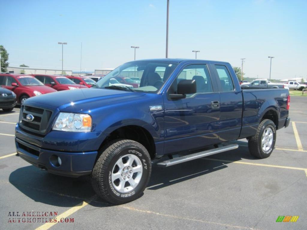 2008 ford f150 stx supercab 4x4 in dark blue pearl metallic a56146 all american automobiles