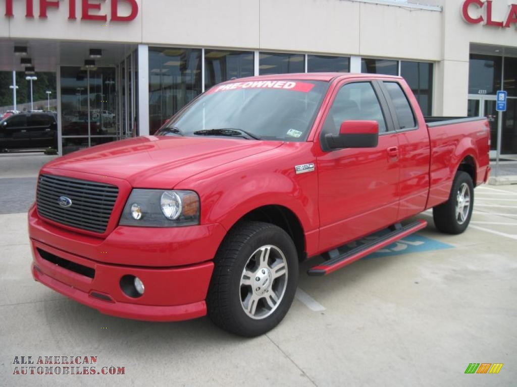 2008 ford f150 fx2 sport supercab in bright red d46111 all american automobiles buy. Black Bedroom Furniture Sets. Home Design Ideas