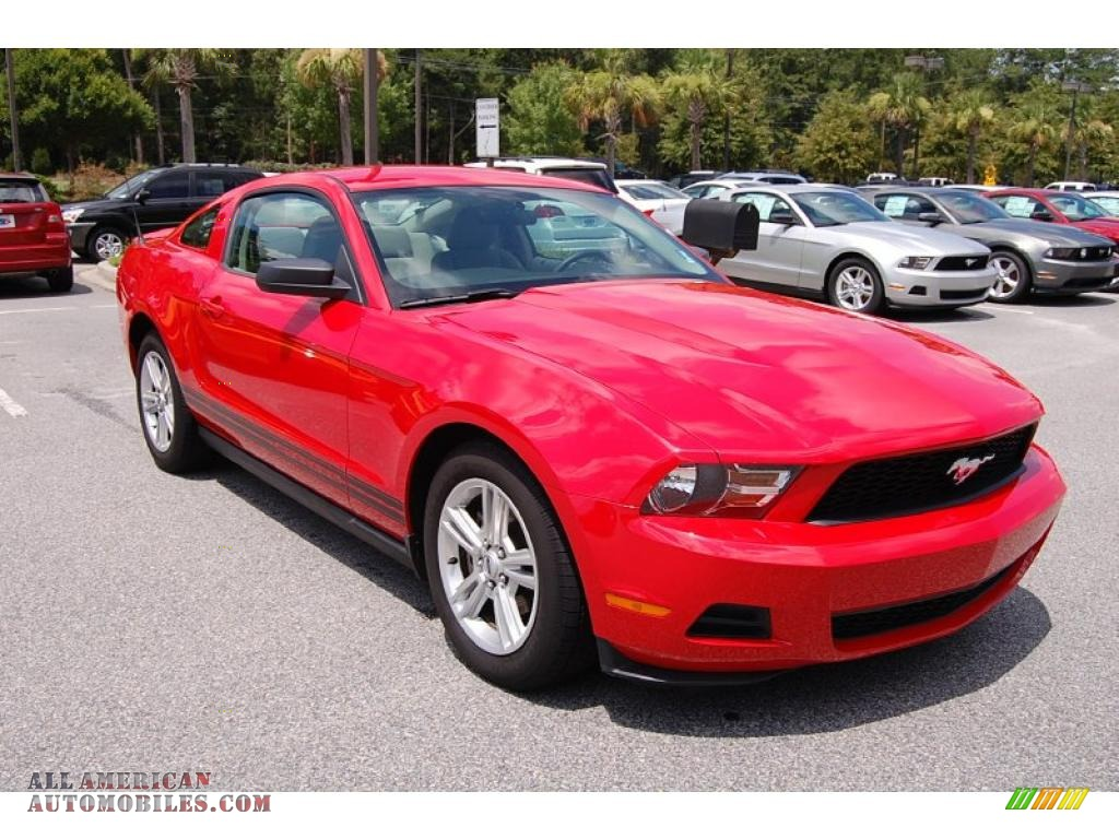 2010 ford mustang v6 coupe in torch red 131322 all american. Black Bedroom Furniture Sets. Home Design Ideas