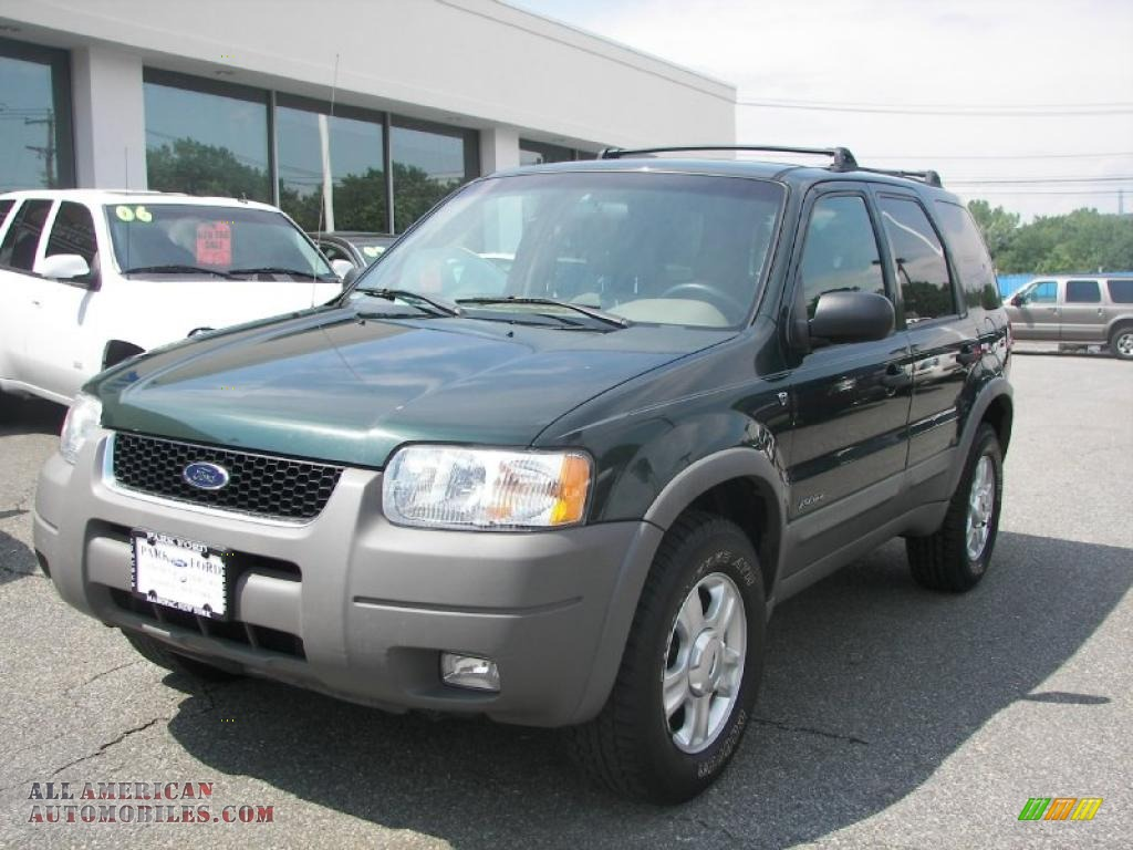 2002 Ford Escape Xlt V6 In Dark Highland Green Metallic