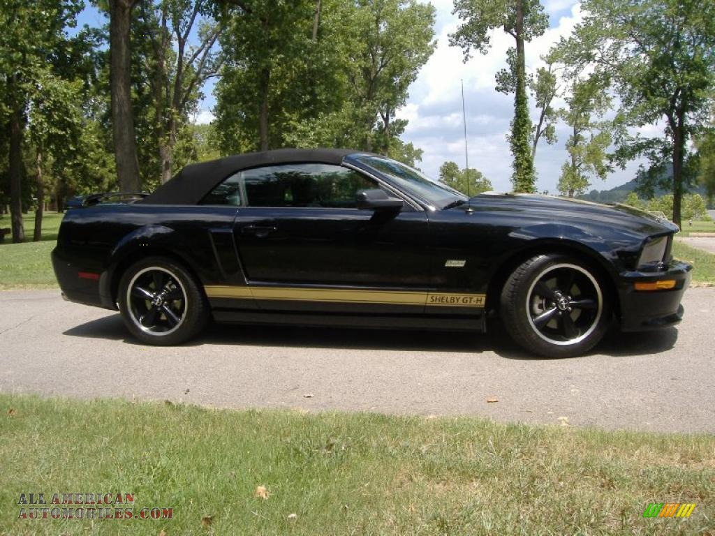 2007 ford mustang shelby gt h convertible in black gold stripe photo 2 347176 all american. Black Bedroom Furniture Sets. Home Design Ideas