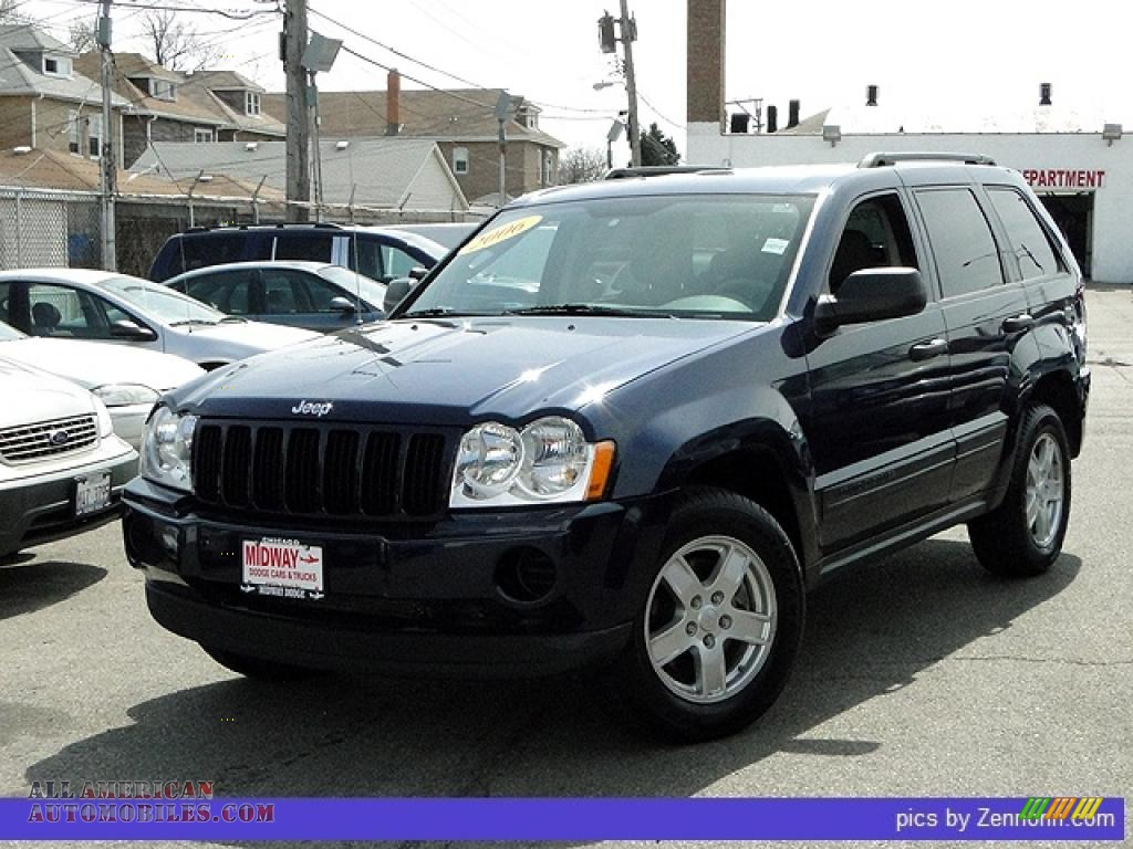 2006 jeep grand cherokee laredo 4x4 in midnight blue pearl 135089 all american automobiles. Black Bedroom Furniture Sets. Home Design Ideas