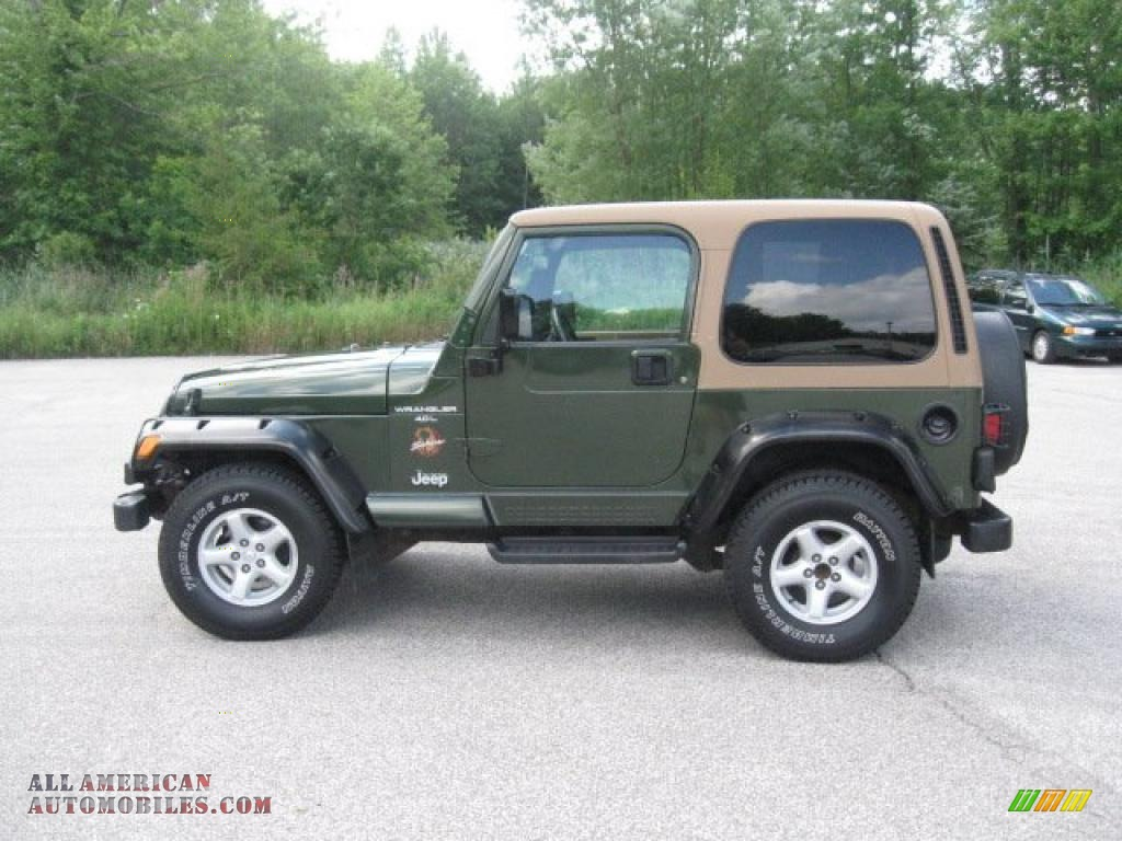 1997 Jeep Wrangler Sahara 4x4 In Moss Green Pearl Photo