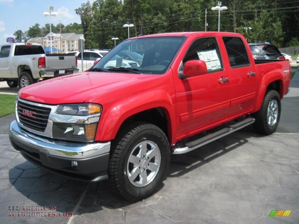 2010 gmc canyon sle crew cab in fire red photo 5 107699 all american automobiles buy. Black Bedroom Furniture Sets. Home Design Ideas