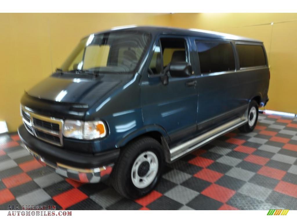 1997 Dodge Ram Van 2500 SLT Passenger in Medium Blue Metallic photo #3 ...