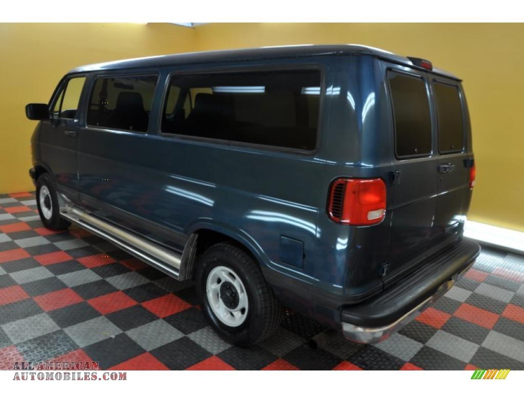 1997 Dodge Ram Van 2500 SLT Passenger in Medium Blue Metallic photo #4 ...