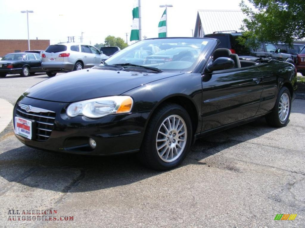 2005 chrysler sebring touring convertible in brilliant black 705988 all american automobiles. Black Bedroom Furniture Sets. Home Design Ideas