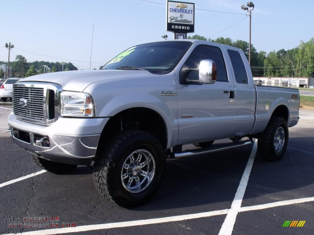 2007 ford f250 super duty xlt supercab in silver metallic a57232 all american automobiles. Black Bedroom Furniture Sets. Home Design Ideas