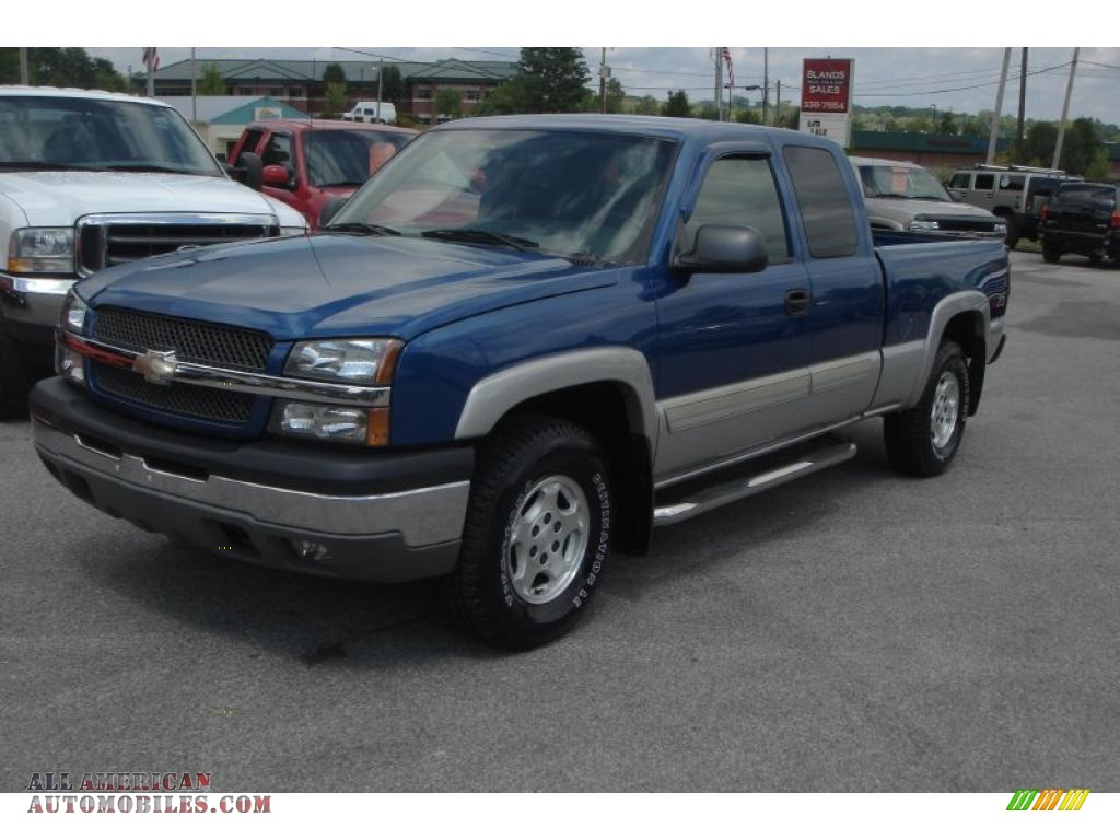 2004 chevrolet silverado 1500 z71 extended cab 4x4 in arrival blue metallic photo 2 127896. Black Bedroom Furniture Sets. Home Design Ideas