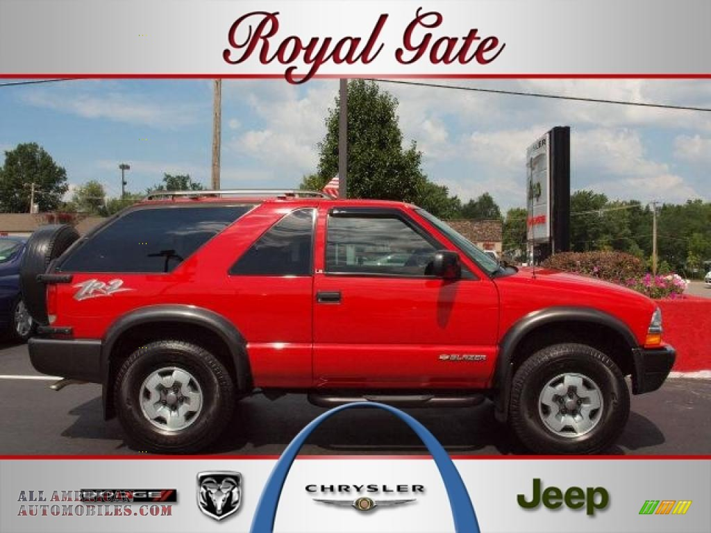 2002 chevrolet blazer ls zr2 4x4 in victory red 143460 all american automobiles buy american cars for sale in america all american automobiles