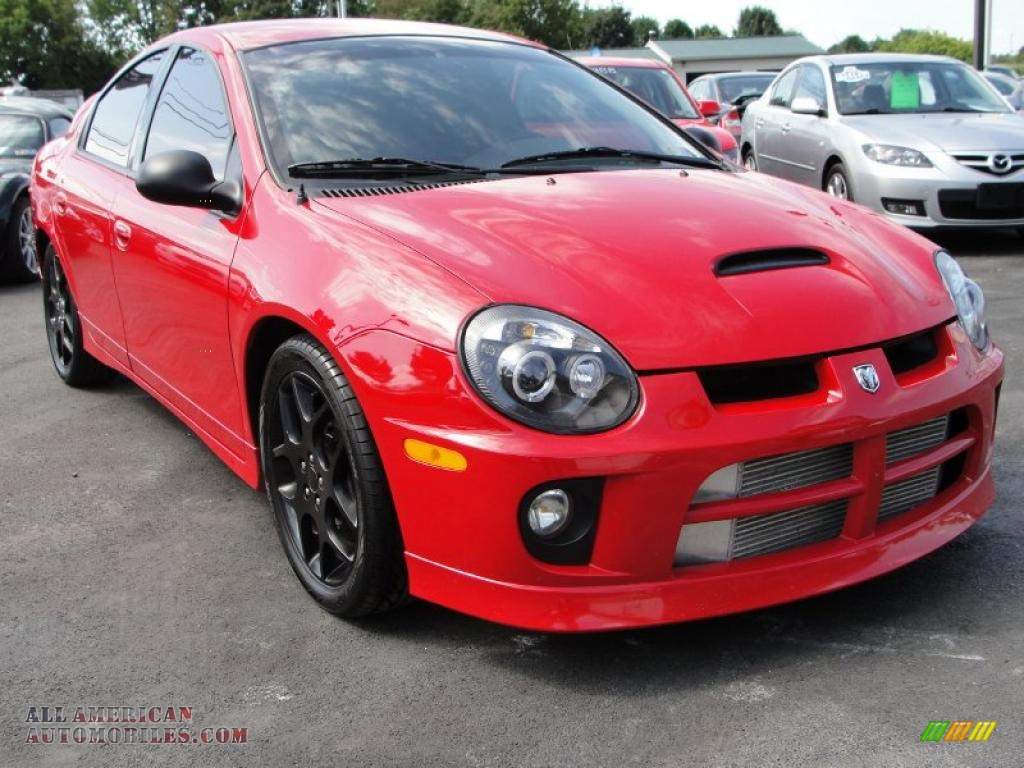 dodge neon srt   flame red   american automobiles buy american cars