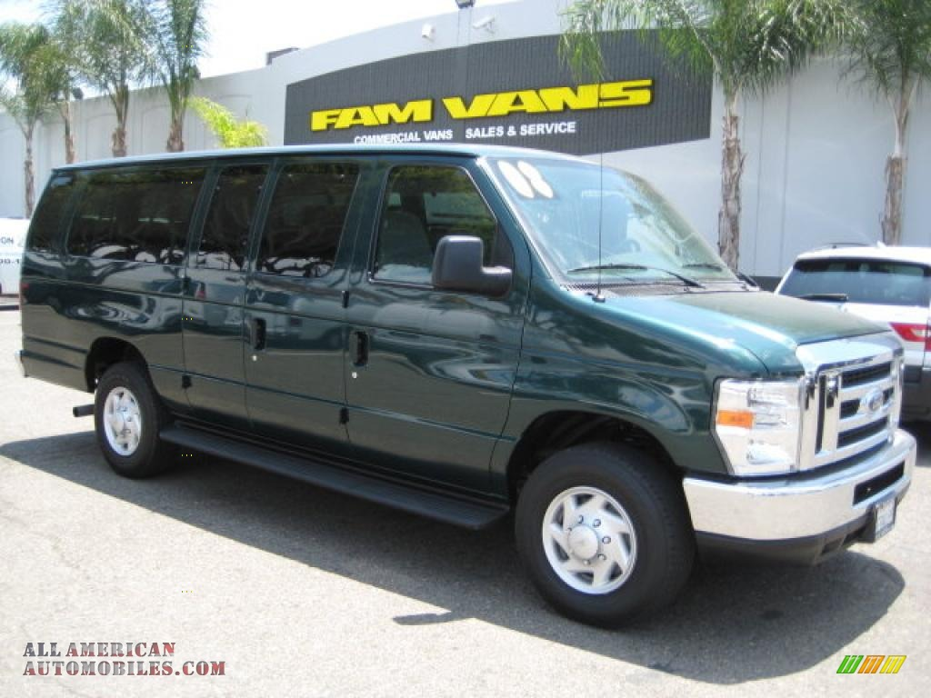 2008 ford e series van e350 super duty xlt 15 passenger in forest green b16762 all american. Black Bedroom Furniture Sets. Home Design Ideas