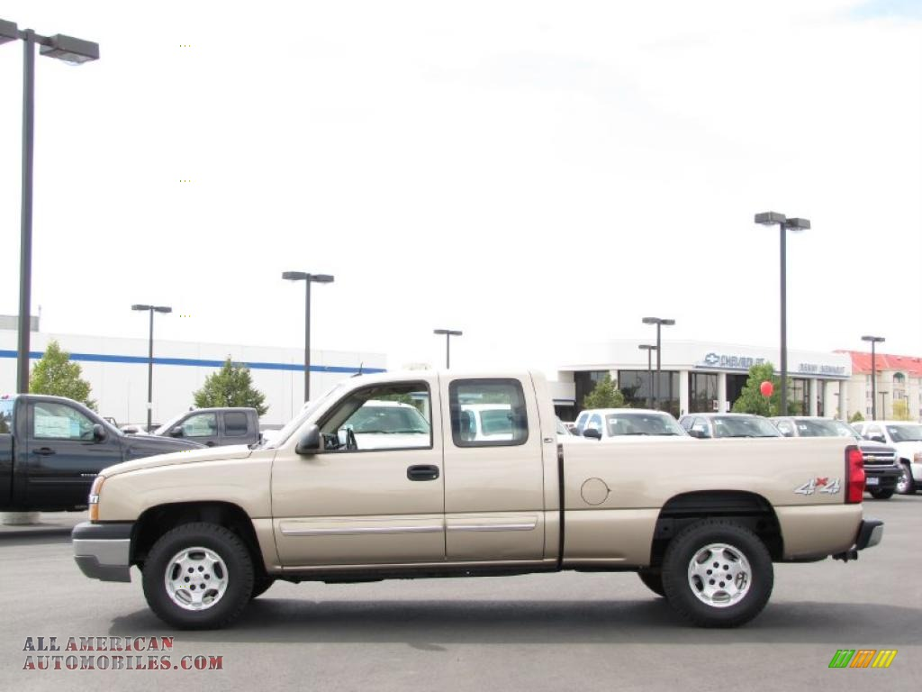 2004 chevrolet silverado 1500 ls extended cab 4x4 in sandstone metallic 309073 all american. Black Bedroom Furniture Sets. Home Design Ideas