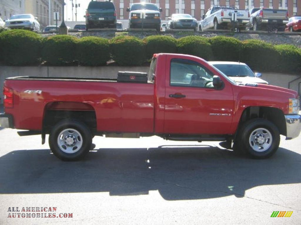 2008 chevrolet silverado 2500hd work truck regular cab 4x4 in victory red photo 8 216722. Black Bedroom Furniture Sets. Home Design Ideas