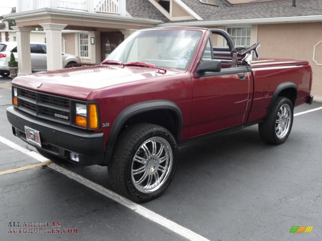 Red / Red Dodge Dakota Sport Regular Cab 4x4 Custom Convertible Truck