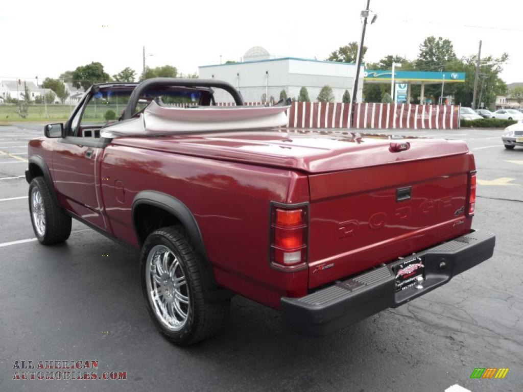 1989 dodge dakota sport regular cab 4x4 custom convertible truck in red photo 4 174201 all. Black Bedroom Furniture Sets. Home Design Ideas