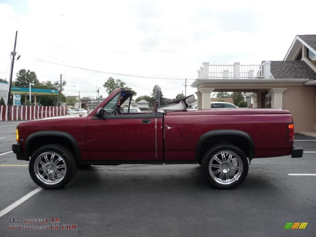 1989 Dakota Sport Regular Cab 4x4 Custom Convertible Truck - Red / Red photo #9
