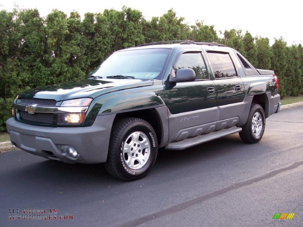 2002 chevrolet avalanche z71 4x4 in forest green metallic 148491 all american automobiles. Black Bedroom Furniture Sets. Home Design Ideas