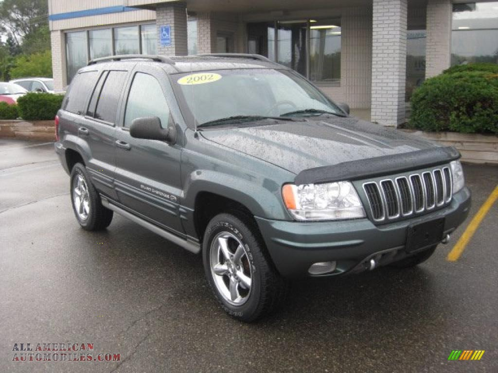 2002 jeep grand cherokee overland 4x4 in onyx green pearlcoat 181135 all american automobiles buy american cars for sale in america all american automobiles
