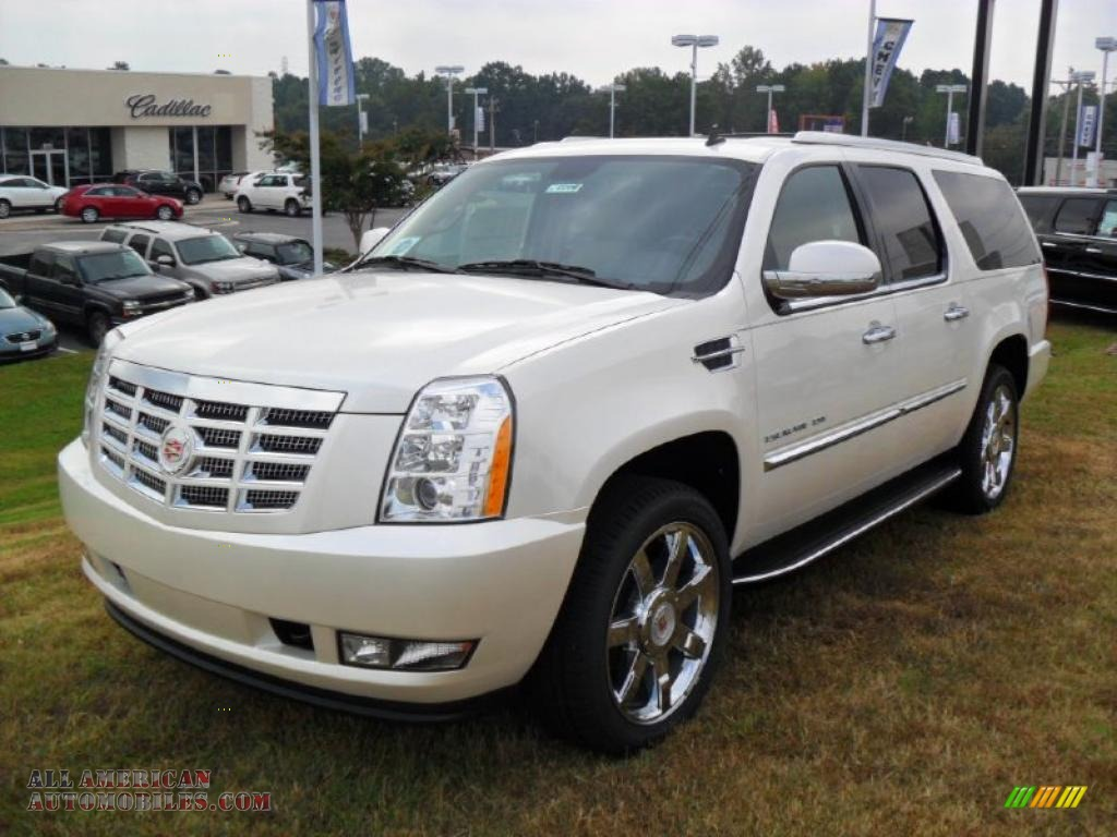 2011 cadillac escalade esv luxury awd in white diamond. Black Bedroom Furniture Sets. Home Design Ideas
