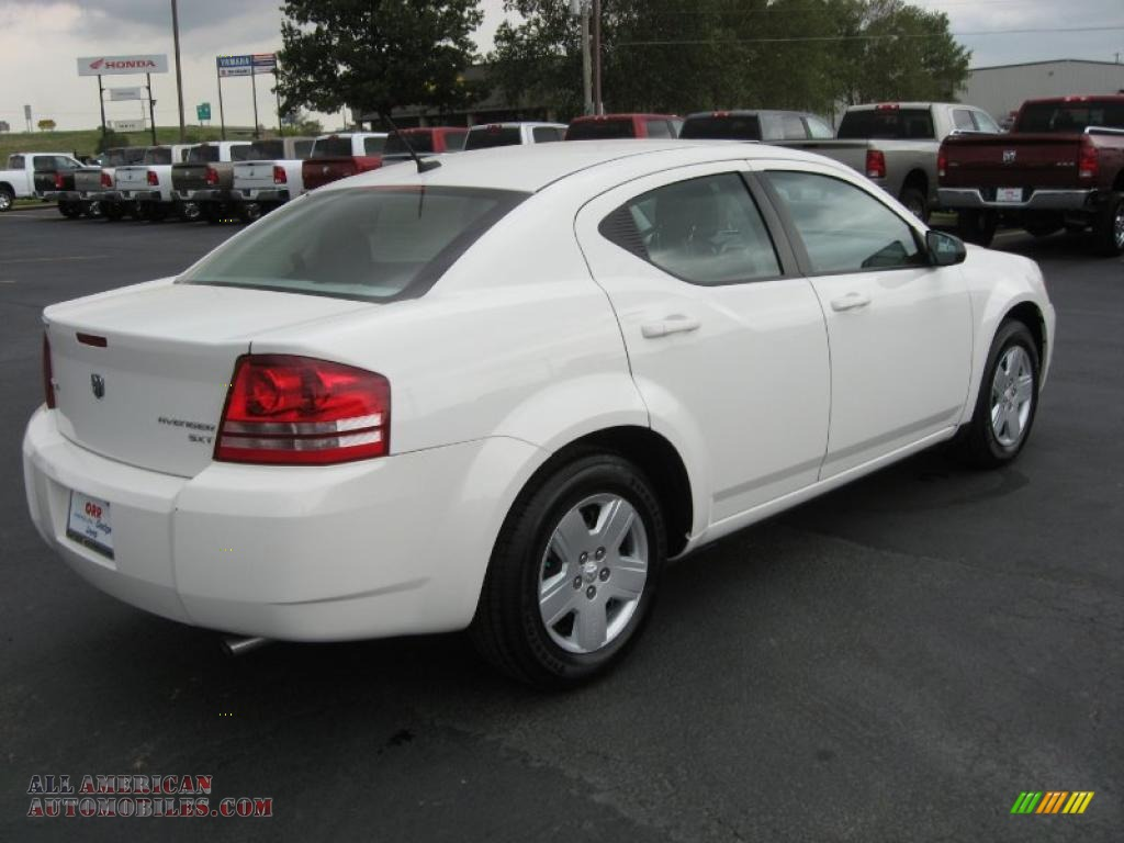 2010 dodge avenger sxt in stone white photo 4 212157. Black Bedroom Furniture Sets. Home Design Ideas