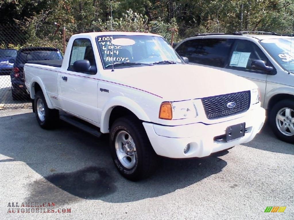 2003 ford ranger edge regular cab 4x4 in oxford white photo 6 a35409 all american. Black Bedroom Furniture Sets. Home Design Ideas