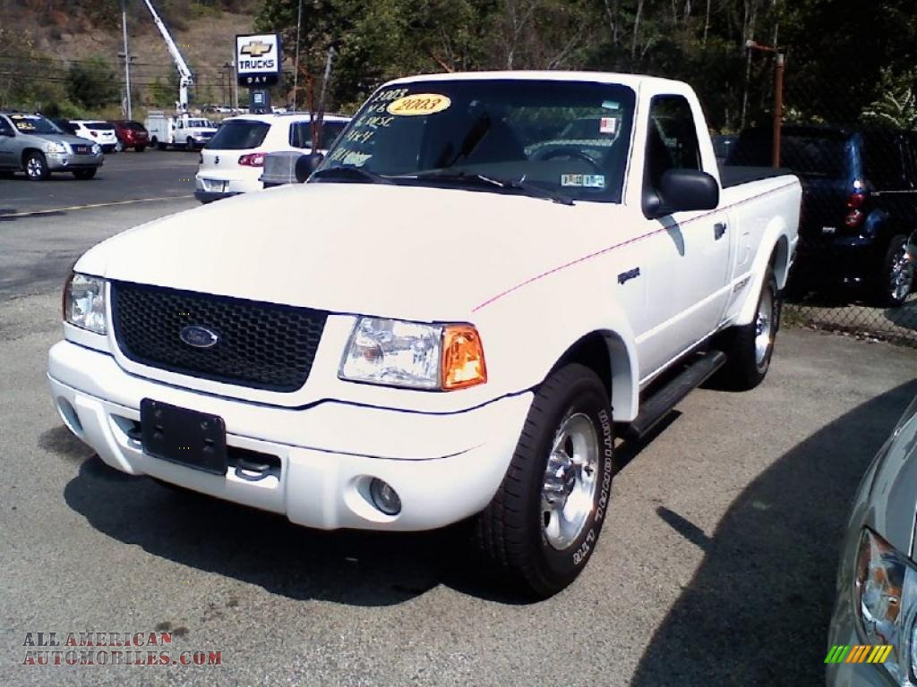 Day Ford Monroeville >> 2003 Ford Ranger Edge Regular Cab 4x4 in Oxford White photo #2 - A35409 | All American ...