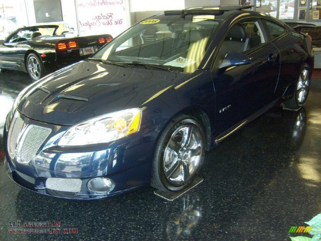 2008 Pontiac G6 Gxp Coupe In Midnight Blue Metallic