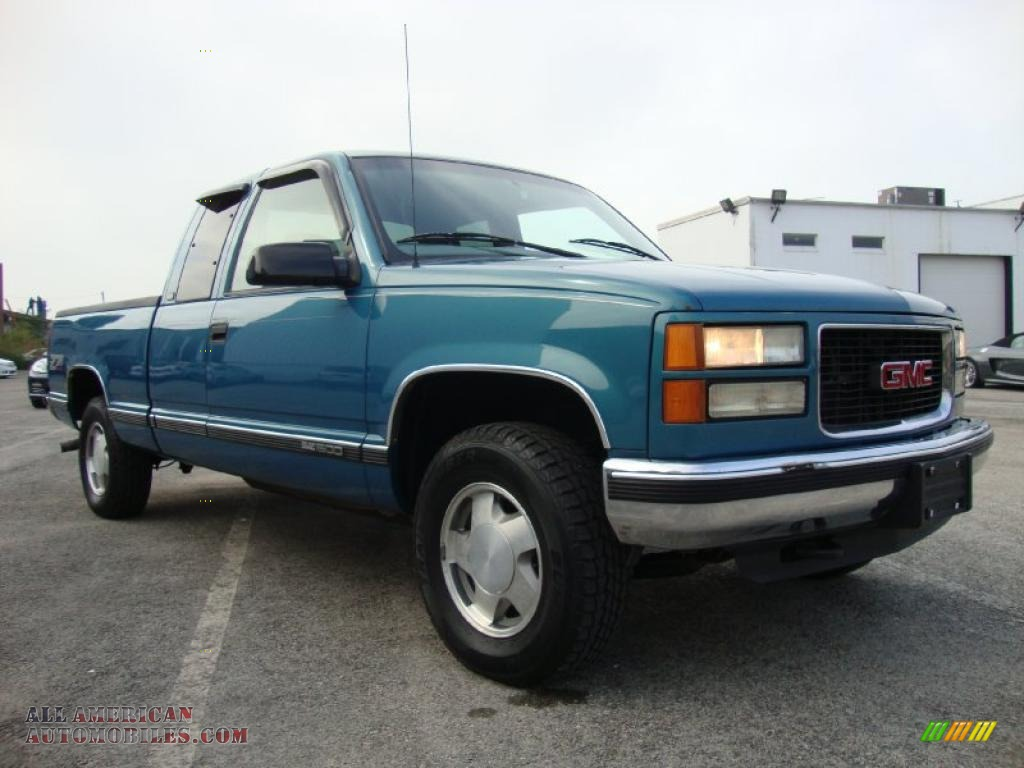 1997 Gmc Sierra 1500 Sle Extended Cab 4x4 In Light Stellar Blue Metallic Photo 5 525750 All American Automobiles Buy American Cars For Sale In America