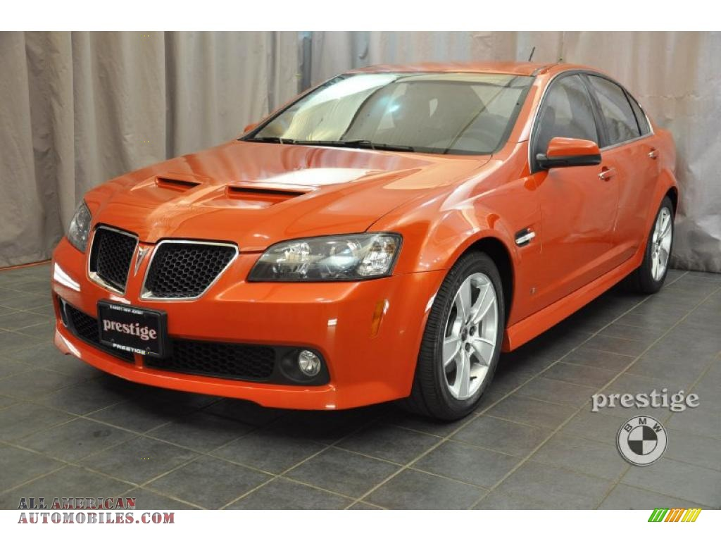 2008 Pontiac G8 Gt In Ignition Orange Metallic 149119